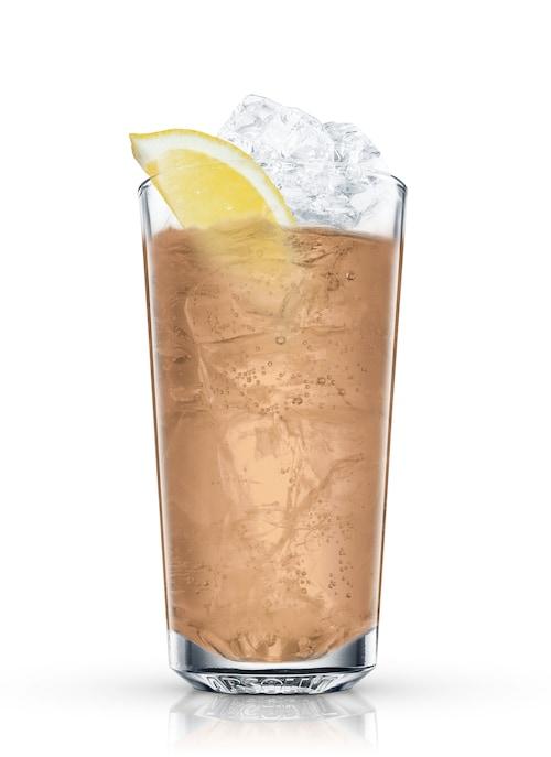 bourbon sling against white background
