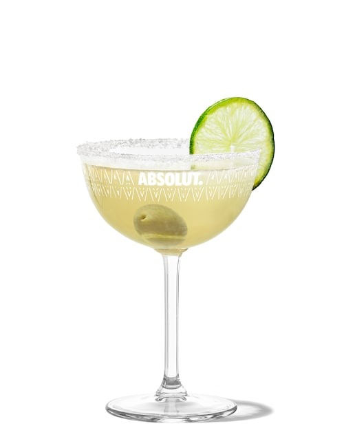 mexican martini against white background