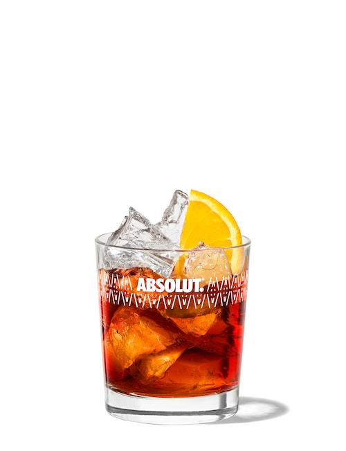 negroni against white background