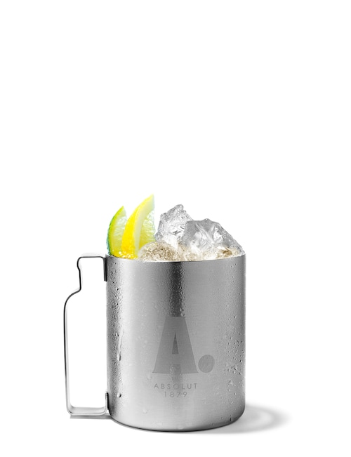 new york mule against white background