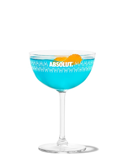 bikini martini against white background