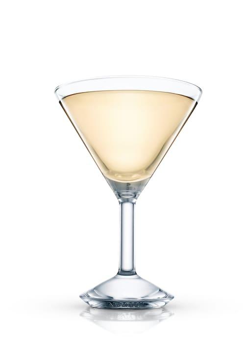 elderflower martini against white background