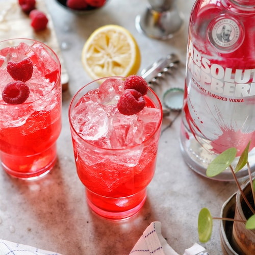 absolut raspberri collins in environment