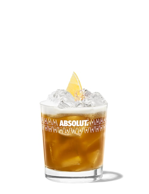 kahlua sour against white background