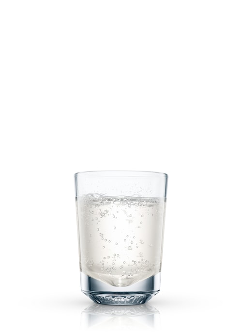 peachy fizz shooter against white background