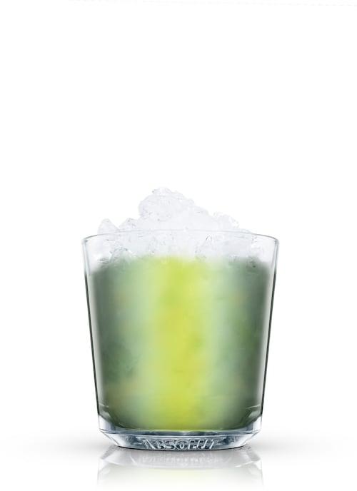 basil'n apple against white background