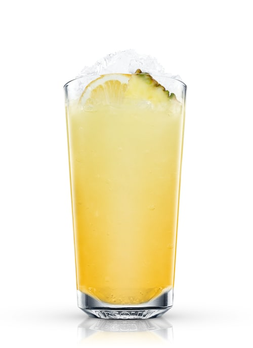 pineapple cooler against white background