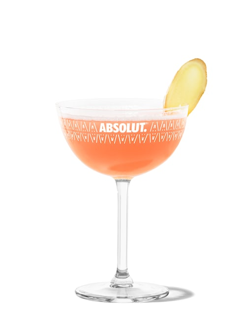 ginger cosmo against white background