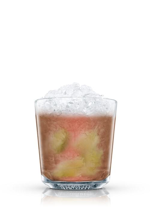 absolut chocolate caipiroska against white background