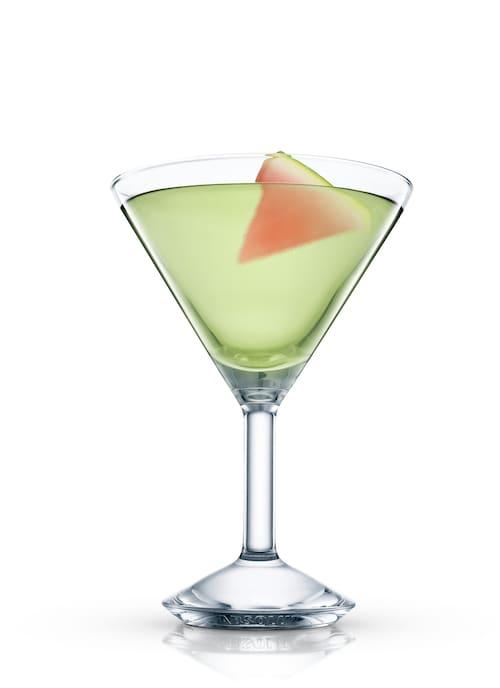 melon martini against white background
