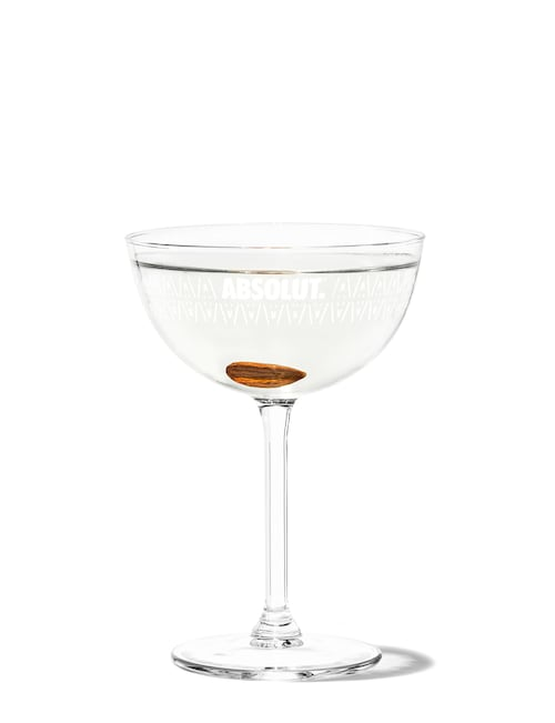absolut chocolate martini against white background