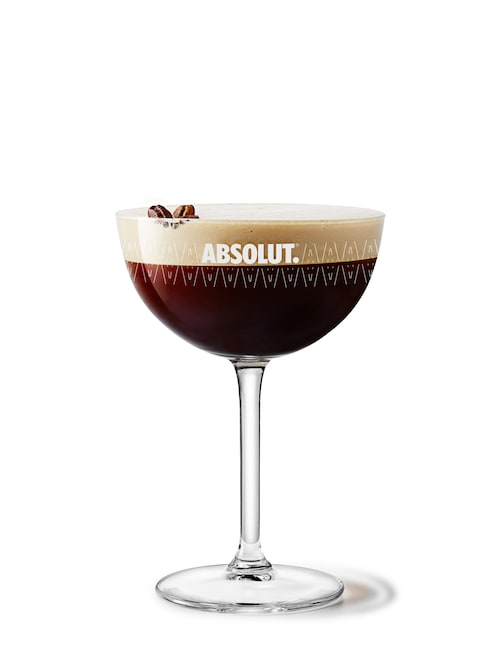 irish espresso-tini against white background