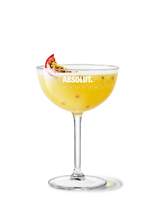 absolut vanilia passion against white background