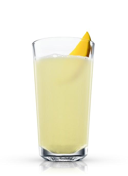 mango fizz against white background