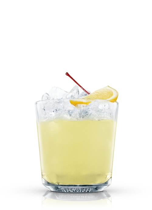 absolut ruby sour against white background