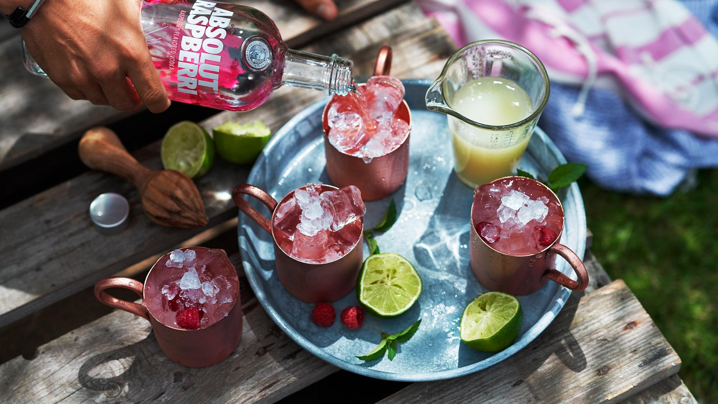 Absolut Raspberri Mule Recipe Absolut Drinks