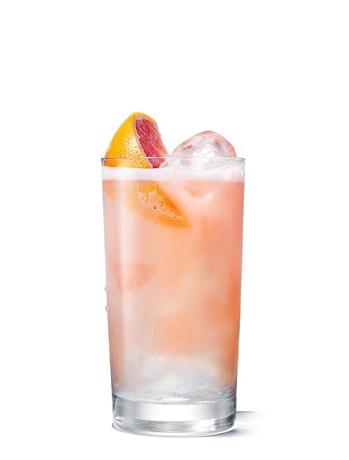 absolut fluffy grapefruit against white background