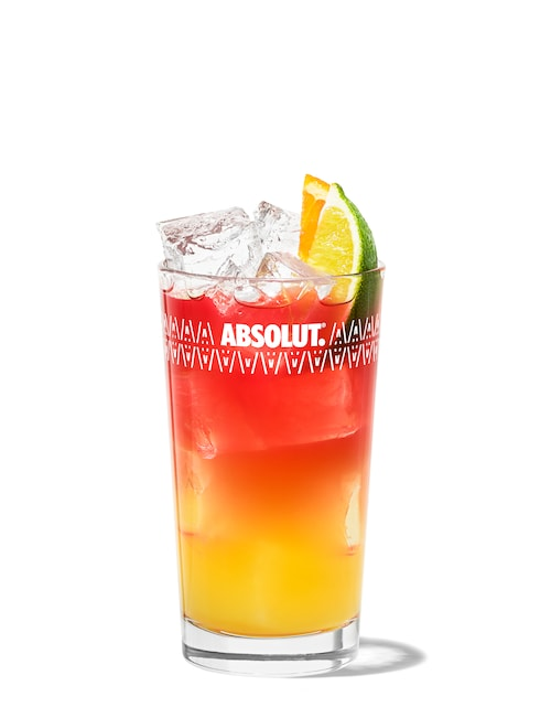 absolut mandrin madras against white background