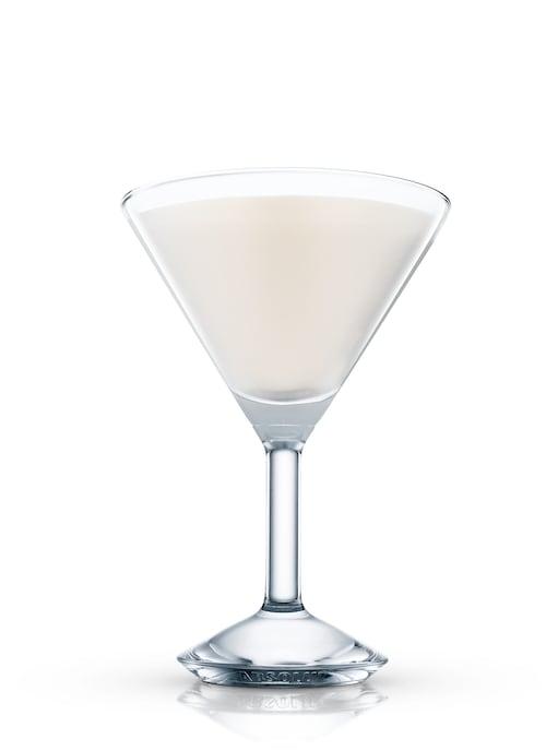 chocolate martini against white background