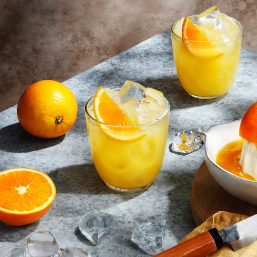 gin and orange in environment