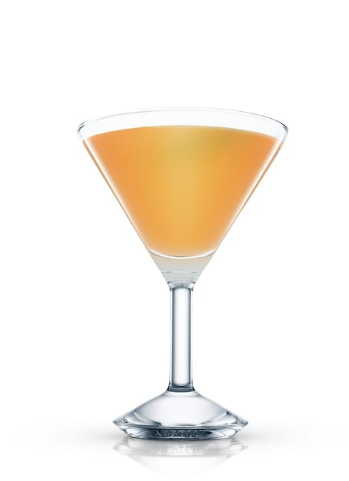 absolut fuzzy martini against white background