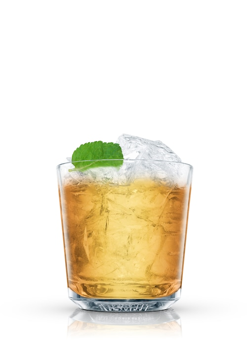 whisky smash against white background