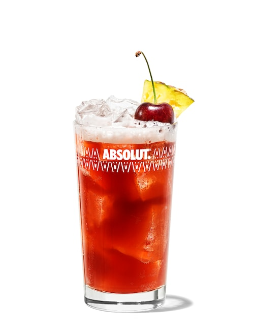 singapore sling against white background