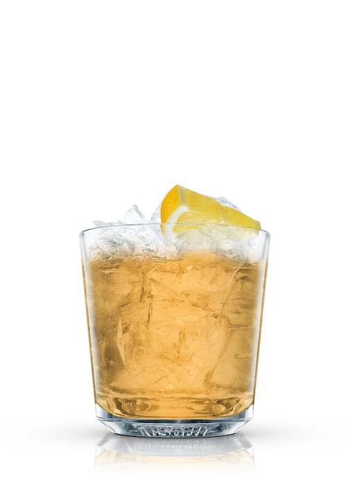 apple jack sour against white background