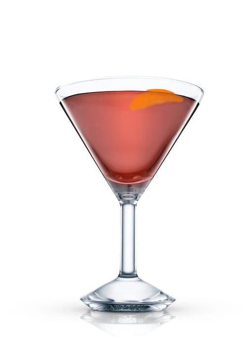 cigar lover's martini against white background