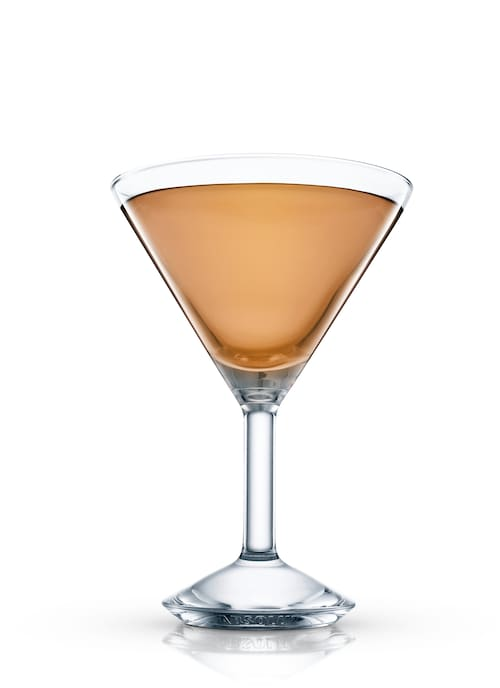 bourbon cocktail against white background
