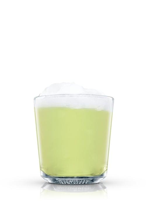 green fizz against white background