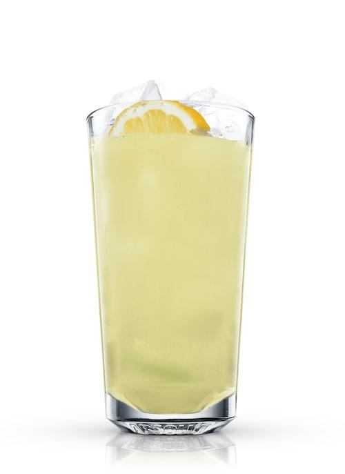 mint lemonade against white background