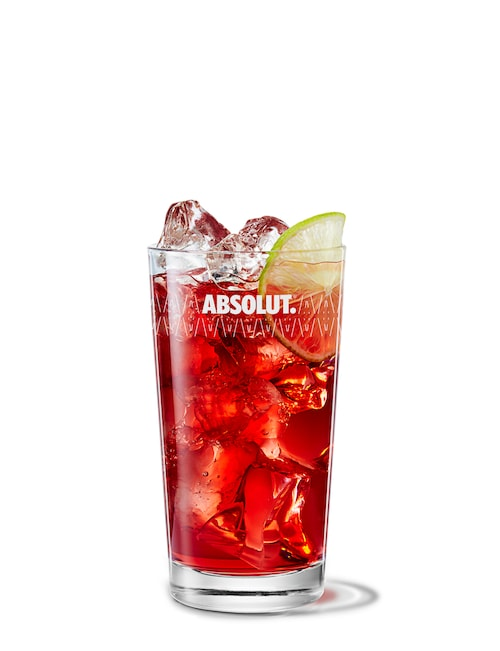 vodka cranberry against white background