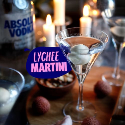 lychee martini in environment