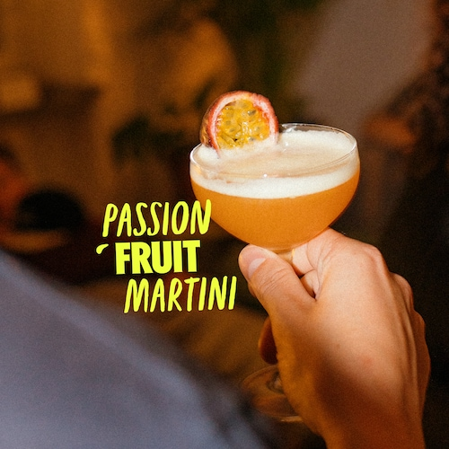 passion fruit martini in environment