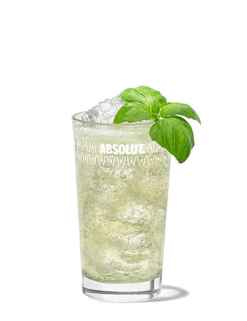 absolut basil against white background