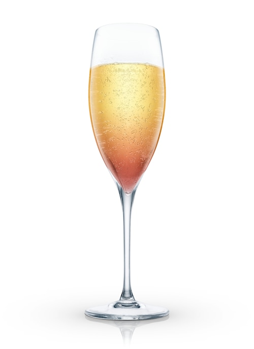 champagne pick me up against white background
