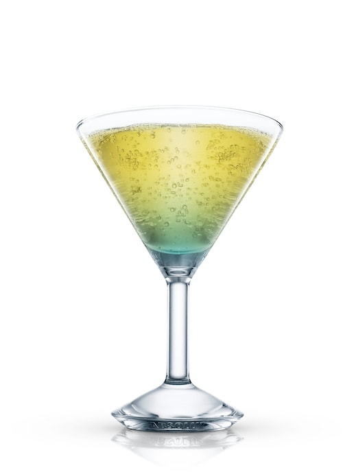 vacation martini against white background