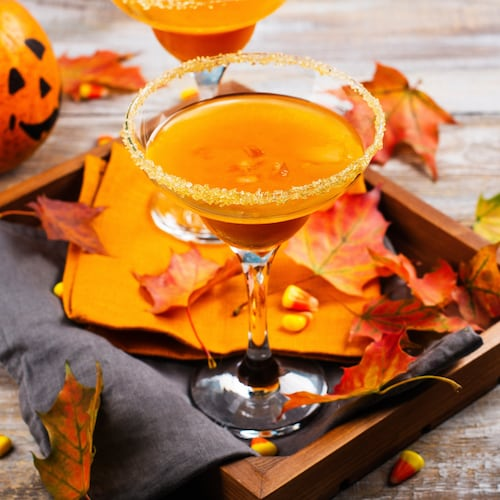 pumpkin pie martini in environment