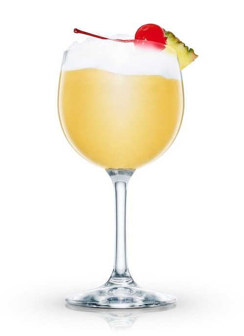 pina colada against white background