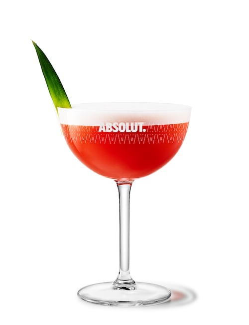 french martini against white background