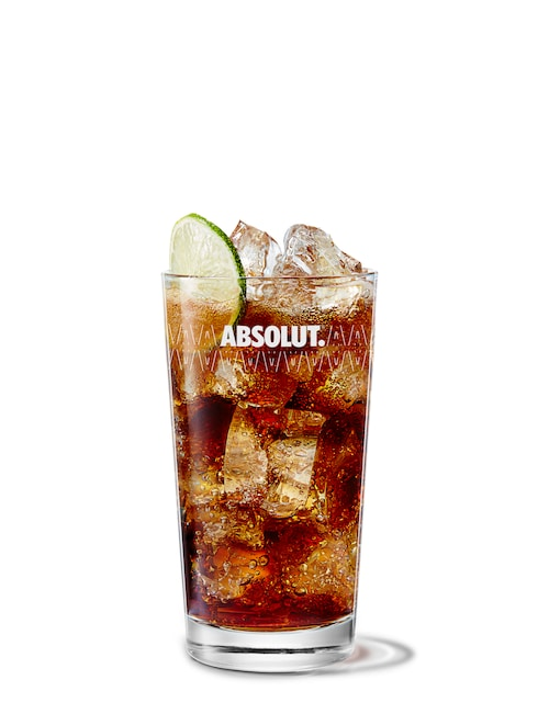 absolut berri cola against white background