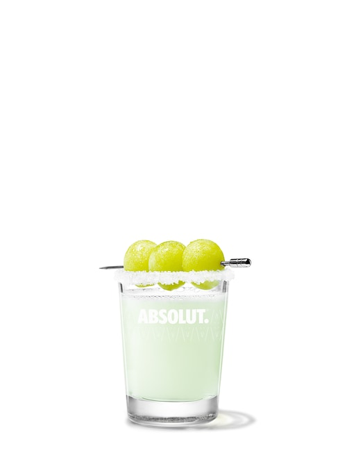 absolut grape drop against white background