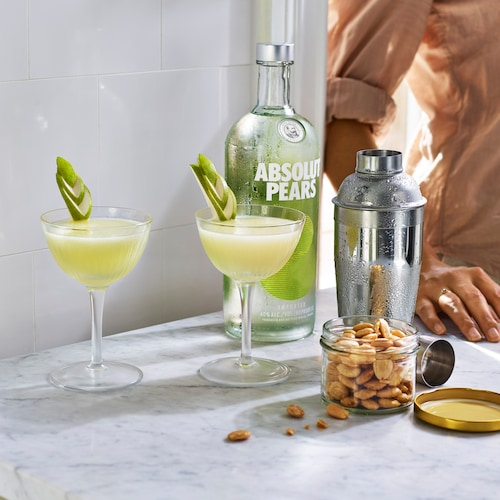 absolut pears martini in environment