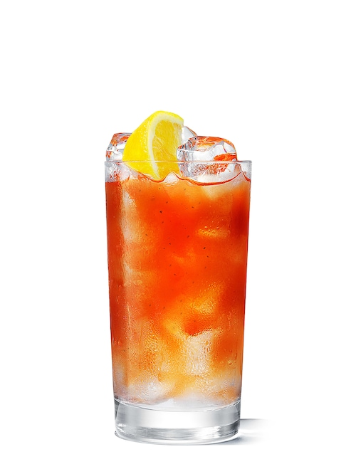 absolut long bloody mary against white background