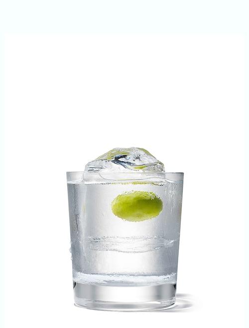 absolut rocks martini against white background