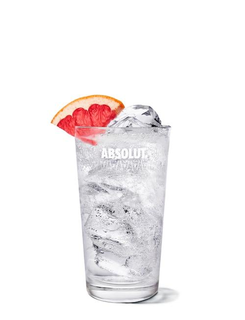 hard seltzer grapefruit drink against white background