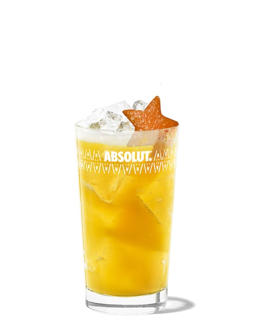 golden apple collins against white background