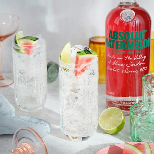 absolut watermelon and lemon-lime soda in environment