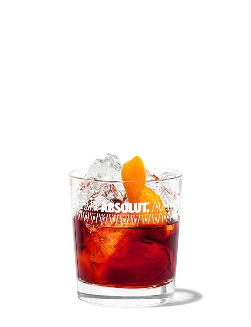 100 coffee infused negroni against white background